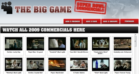 My Space Super Bowl Ads