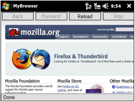 Mozilla Firefox Fenec Beta 1