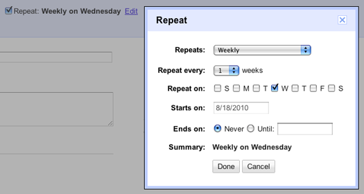 how to delete repeat events on google calendar