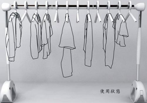 Perchero permite secar tu ropa en pocos minutos mientras for Perchero de ropa