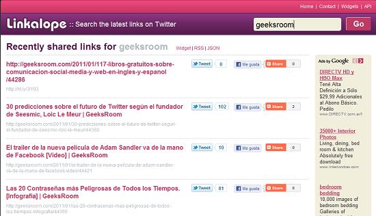Enlaces buscando Geeksroom en Linkalope