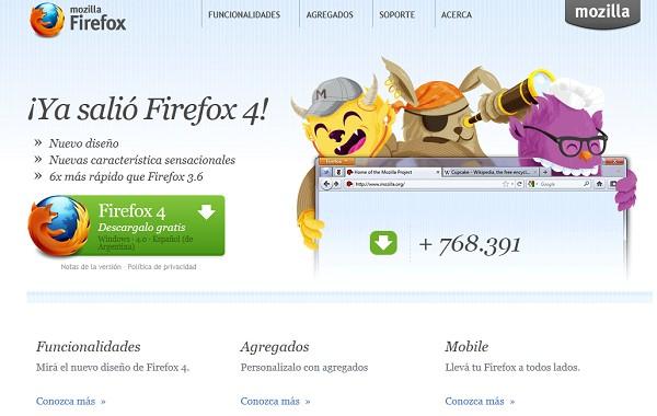 Firefox 4.0 versión es-AR