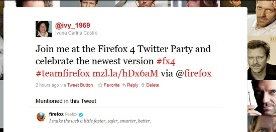 Party Twitter Firefox 4.0