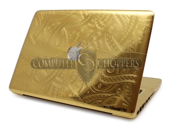 Con una MacBook Pro de oro con diamantes entrá a la realeza Apple