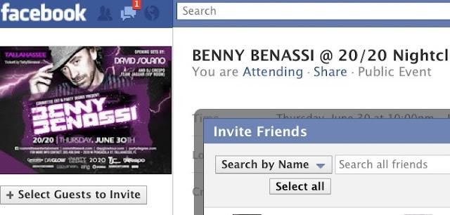 Eventos de Facebook: Invita con un sólo clic a todos tus Amigos