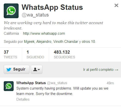 Whatsapp Registra Problemas A Nivel Mundial Actualizado