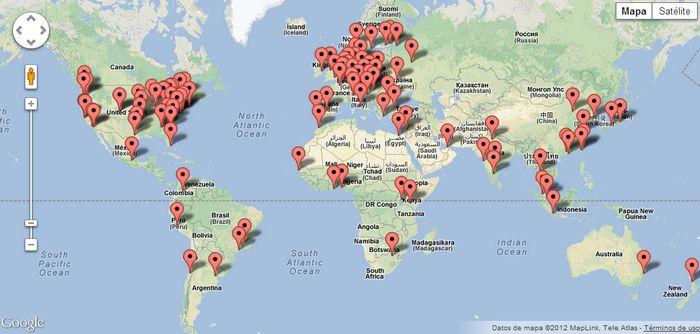 Quieres trabajar para google en tu pa s este mapa te for Google argentina oficinas