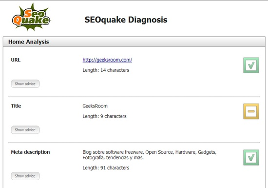 seoquake-diagnostic