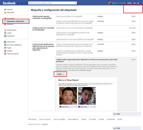 Facebook-Biografía-configuración-etiquetado