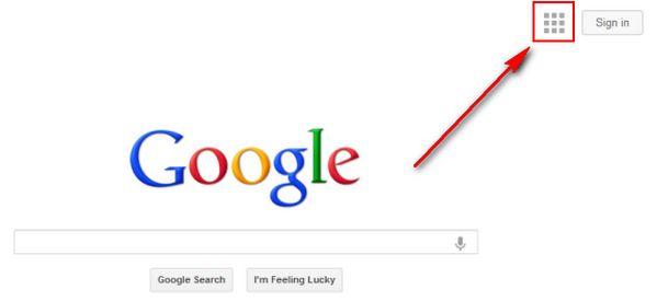 google-navigation-menu