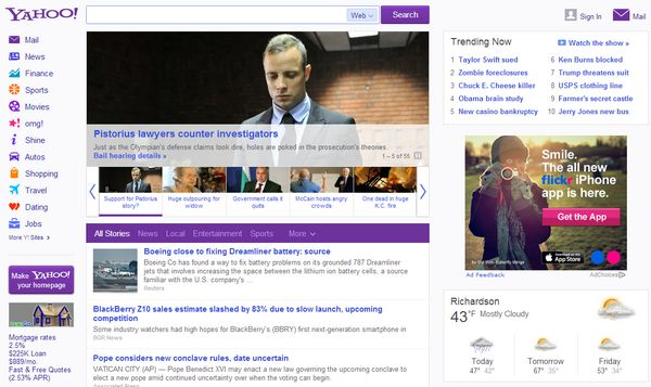 new-design-yahoo