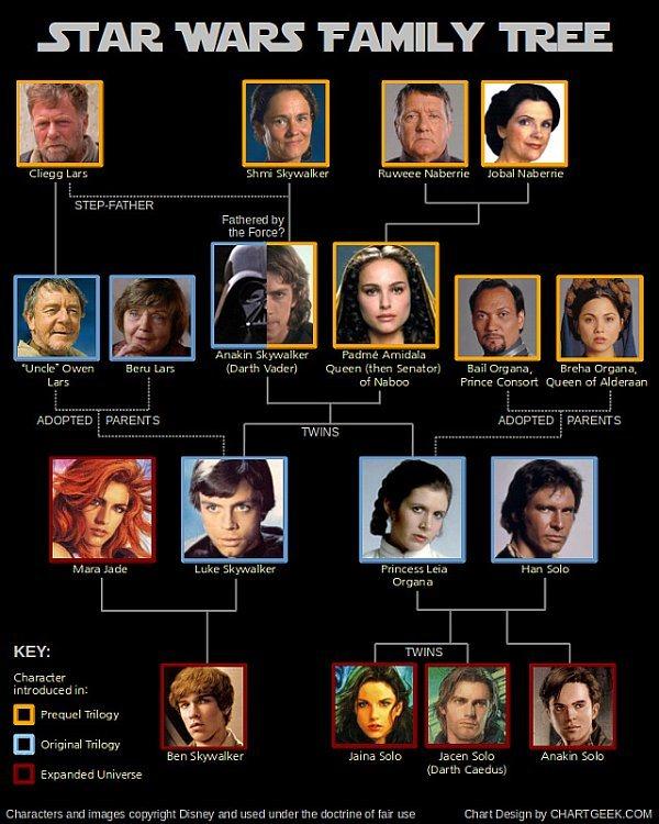 el rbol geneal gico de star wars geek 39 s room ForArbol Genealogico Star Wars