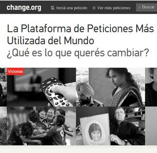 Change.org , la plataforma para hacer peticiones y cambiar el mundo
