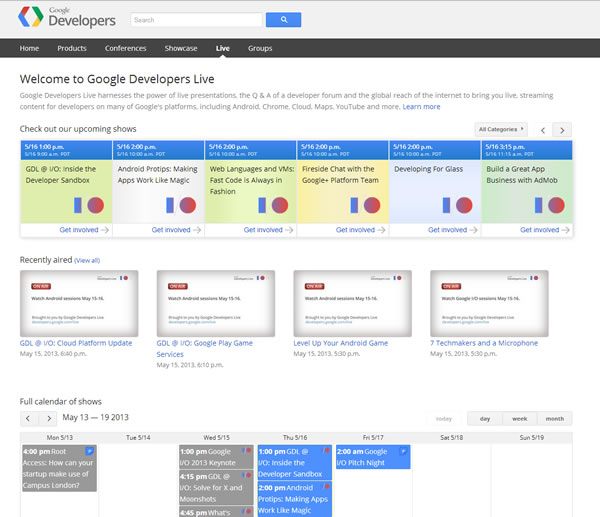 google-dev-live