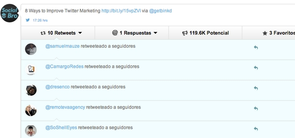 socialbro-tweets-analytics-list