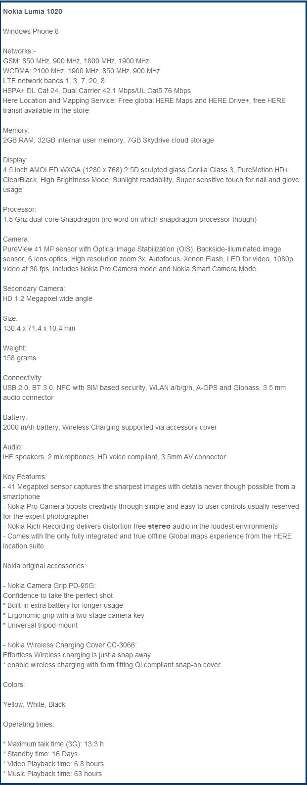 nokia-lumia-1020-especificaciones