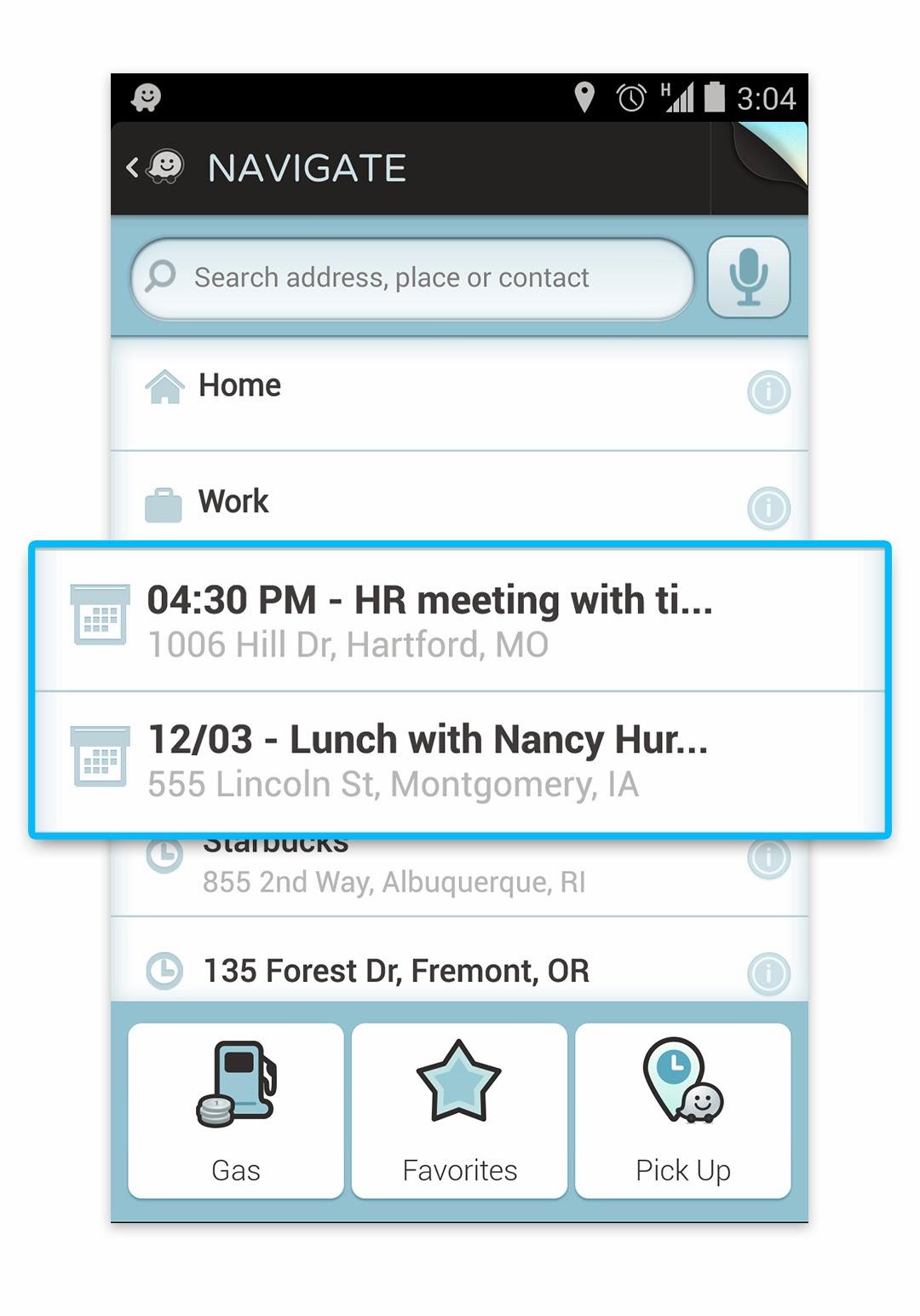 Navlist-calendarEvent-Android