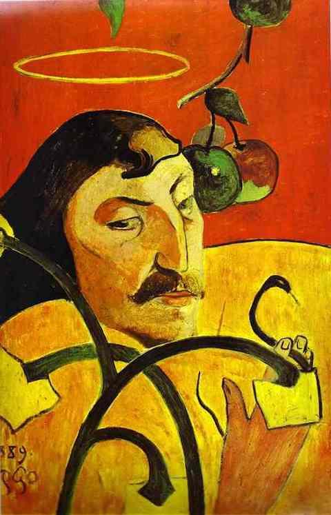 Gauguin_Caricature_Self-Portrait_1889