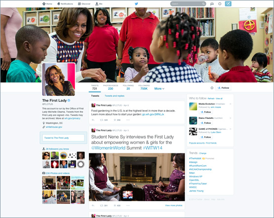 twitter new-profile-michelle-obama