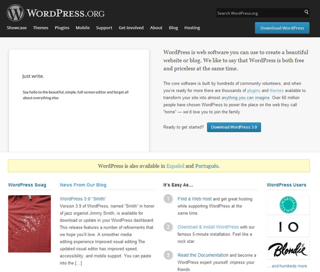 wordpress-pagina