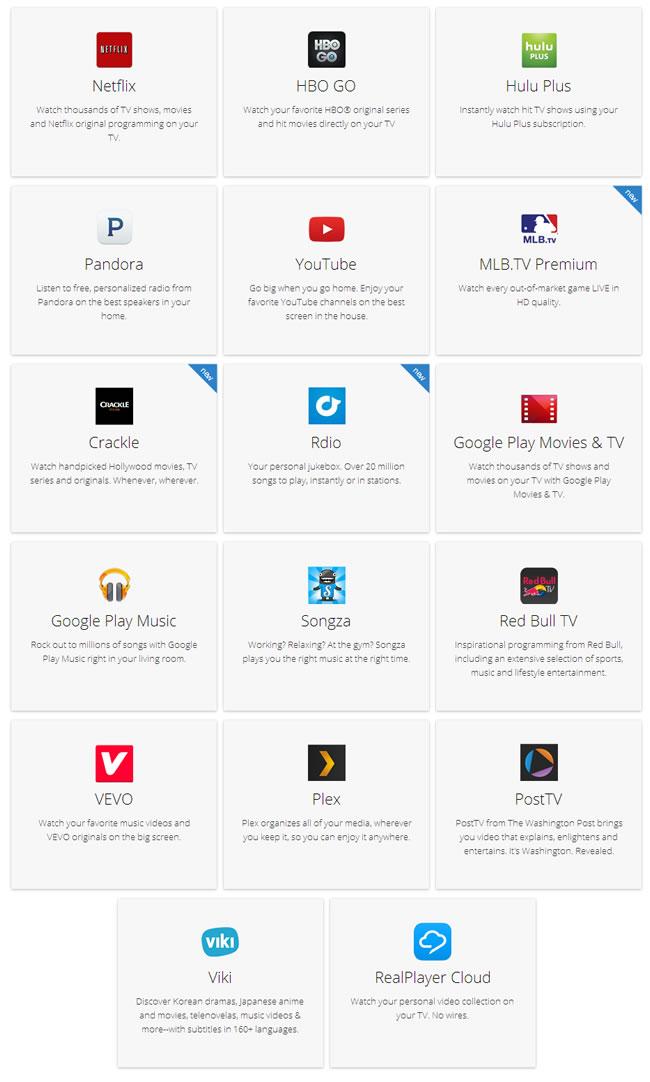 Chromecast-apps