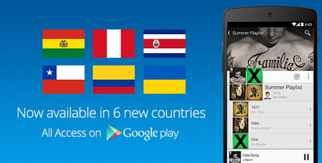 google-play-all-access-new-countries