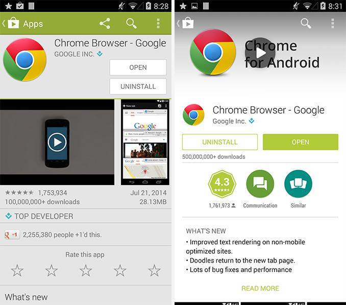 google-play-chrome-app-antes-ahora-diseño-material