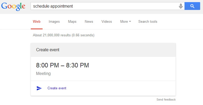 google-search-schedule-appointment