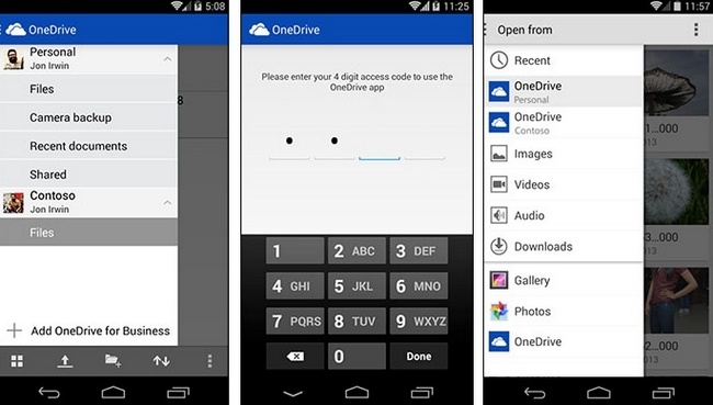 onedrive-android-work-personal-files