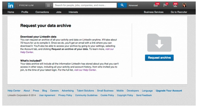 request-data-linkedin