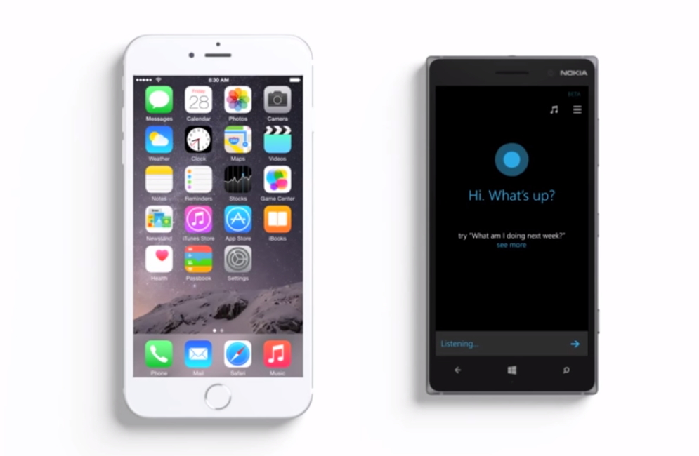 siri-cortana-iphone-lumia-830