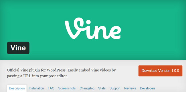 vine-plugin-wordpress-banner