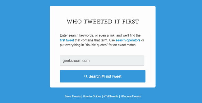 who-tweeted-it-first
