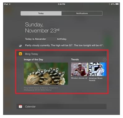 bing-ios-widget-notification-center
