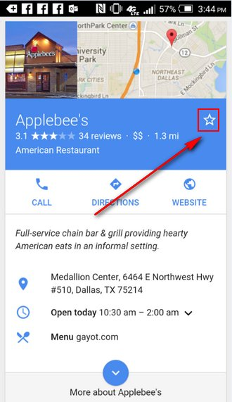 google-local-bookmark-android