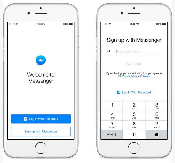 facebook-messenger-sign-up-telephone