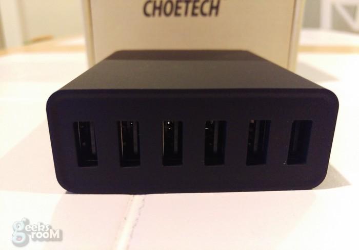 Review: Choetech Cargador rápido USB, con 6 puertos y adaptador de alimentación de CA