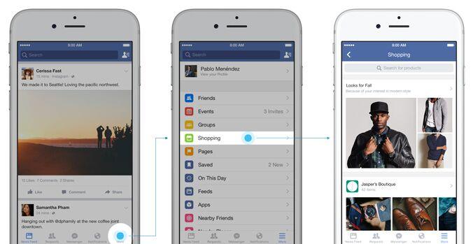 Facebook-feed-de-compras