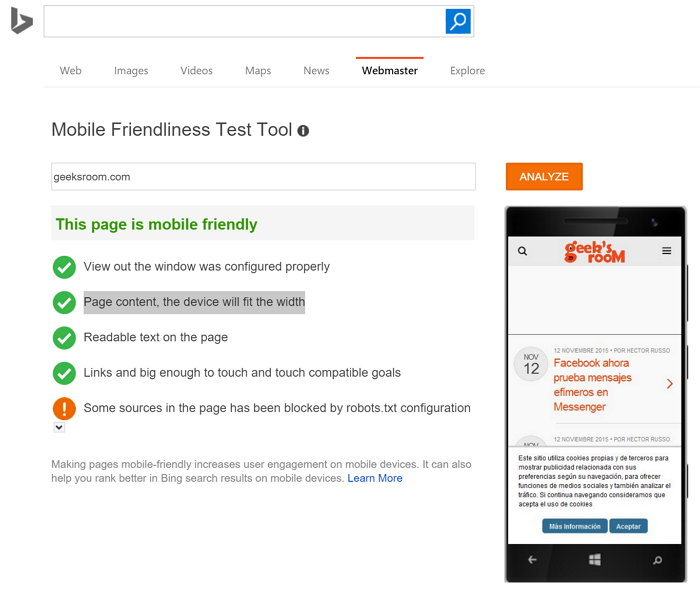 mobile-friendliness-test-tool