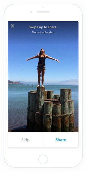 Shorts te permite compartir el carrete de fotos de tu terminal con amigos (tú eliges cuales compartir)