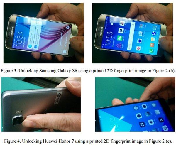 Investigadores logran engañar sensores de huellas dactilares de smartphones con una impresora estándar