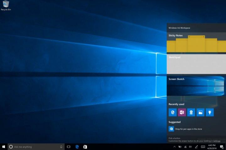 Windows-ink-workspace