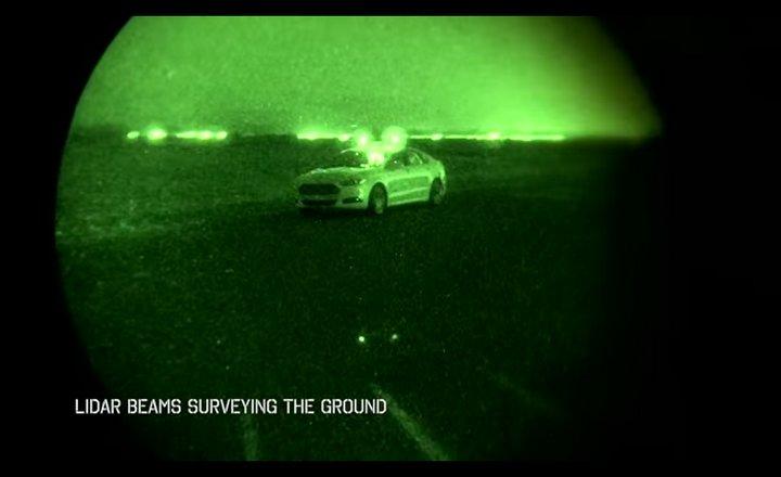 Ford Motors demuestra cómo funciona un #Fusion autónomo en la oscuridad