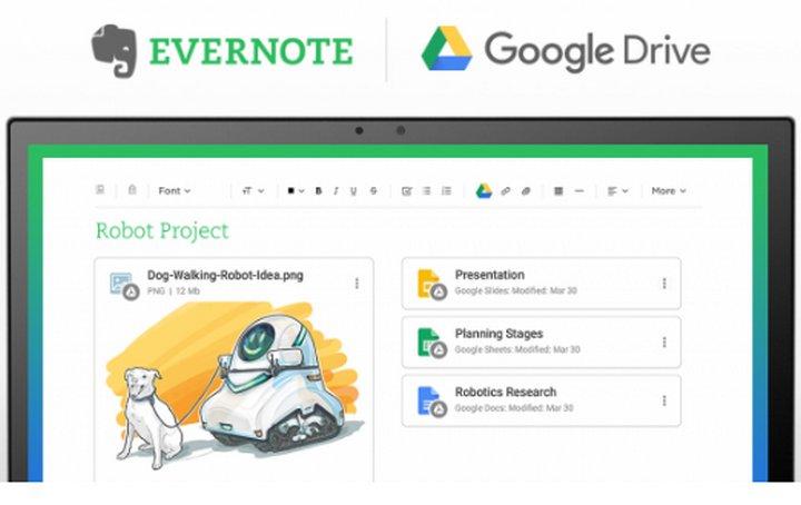 Evernote y Google Drive se integran para ofrecer una mejor experiencia