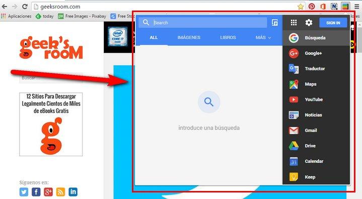 google-black-menu-extension