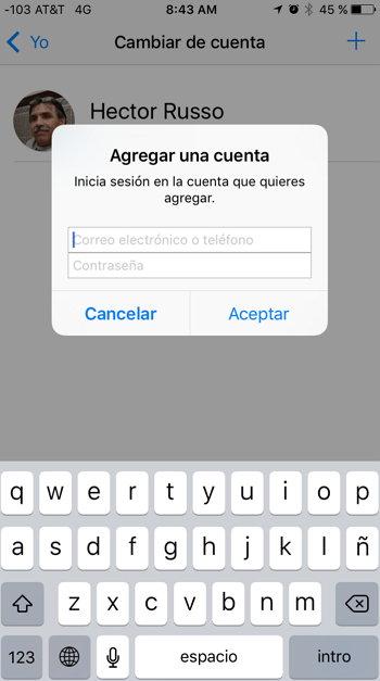 facebook-messenger-agregar-cuenta-login