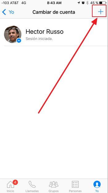 facebook-messenger-agregar-cuenta