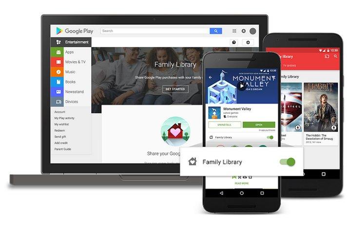Google Play Plan Familiar