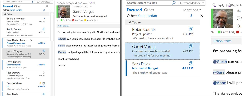 Microsoft Outlook Menciones