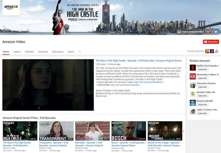 Amazon Prime Video ofrece episodios completos gratis de series originales vía Youtube y Facebook
